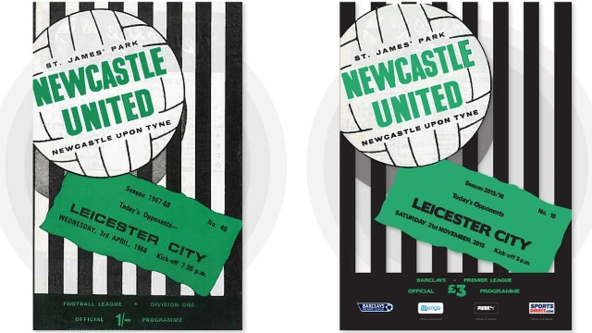 Newcastle United - Free Poster With Saturday's Retro Programme