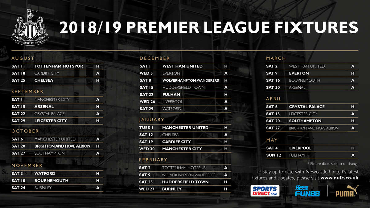 Raspored utakmica u Premier League - sezona 2018/19 Fixture-list-2018-19-twitter